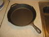 a new cast iron skillet